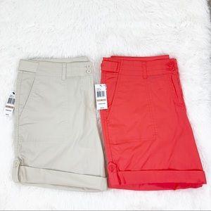 Nautica Chino Shorts Khaki & Coral